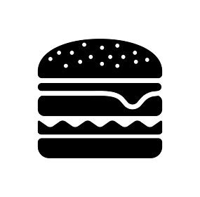 ハンバーガー・食べ物・ジャンクフード アイコン