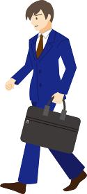 【家族ベクターイラスト素材】通勤中の会社員のイラスト【人物】