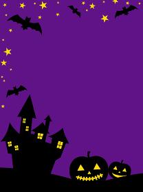 背景素材 ハロウィーン かぼちゃ シルエット
