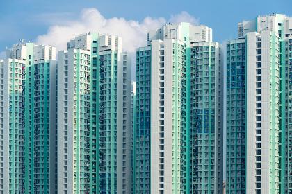 Exterior of apartment building