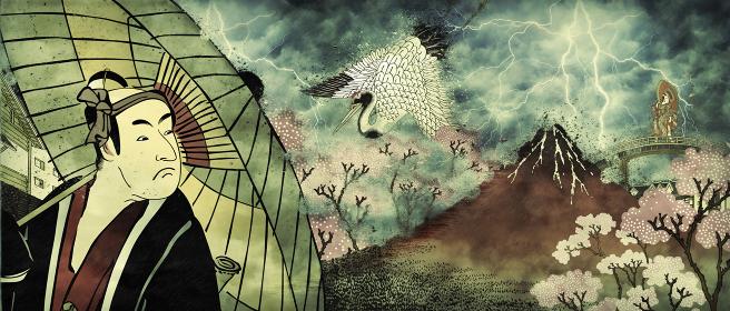 和風コラージュ その18 嵐バージョン