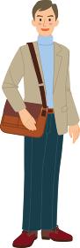 秋の観光服 男性