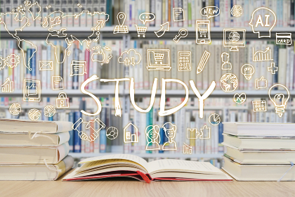 読書で学習する様々な知識・図書館背景-スマホ・パソコン・ネットワーク・ビジネスのアイデア