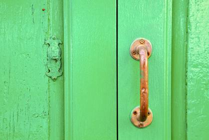 spain   brass knocker lanzarote abstract door wood in the green