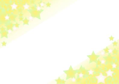 黄色の星のグラデーション背景 横