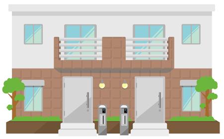 2世帯住宅 イメージイラスト