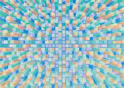 カラフルなデジタル・サイバースペースのイメージ背景