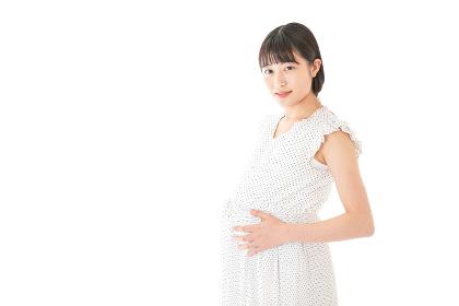 妊娠した若い女性