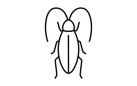 不快害虫のシンプルなアイコン、ゴキブリ