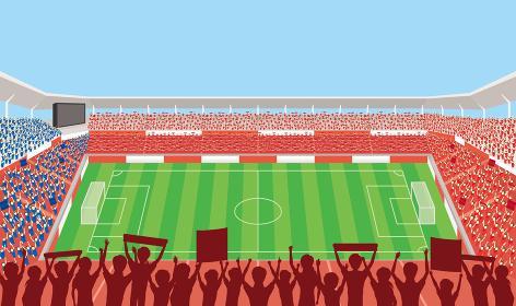 満員のサッカースタジアム
