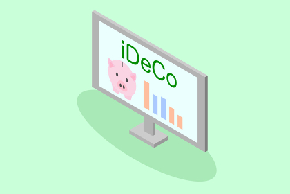 iDeCo 確定拠出年金 ベクターイラスト