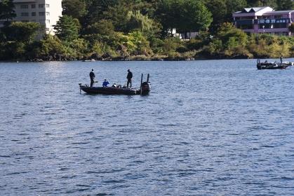 富士五湖・河口湖の釣り人