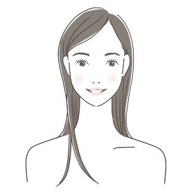 ロングヘア 笑顔 女性