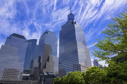 ニューヨーク ブルックフィールドプレイスの近代ビル群