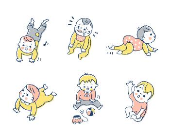 赤ちゃんのいろいろなポーズ セット