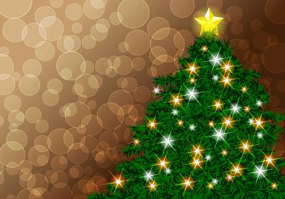 クリスマスツリー B 背景金