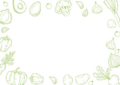 手描きイラスト 野菜背景(横)