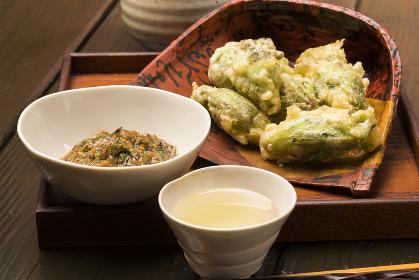 日本酒と春の酒肴