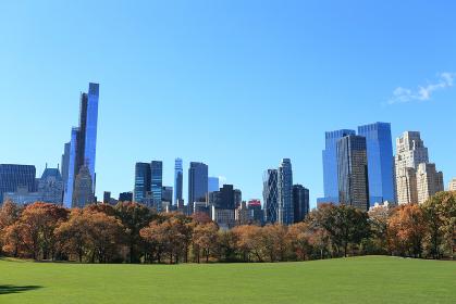 セントラルパーク シープメドウ 秋の装い ニューヨーク アメリカ合衆国