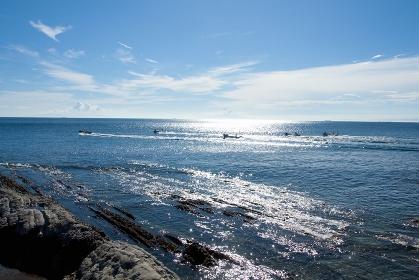 海辺の青空