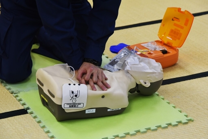 人命救助訓練講習会・心臓マッサージ