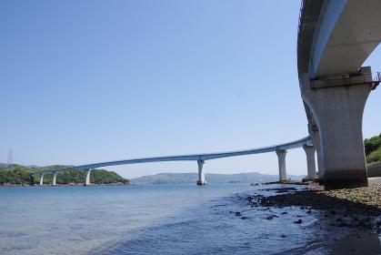 海と青空と伊王島大橋
