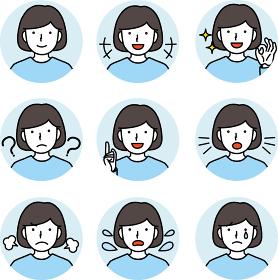 女の子 表情集