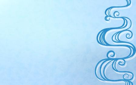 青の流水文様と水彩風テクスチャと青海波の背景素材