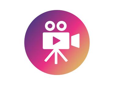 ビデオカメラのグラデーションアイコン