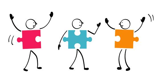 3人のパズルと連結