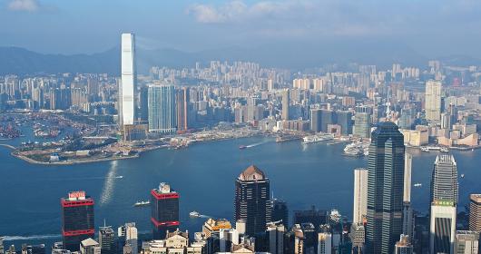 Victoria peak, Hong Kong, 08 November 2018:- Hong kong skyline