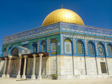 イスラエル・エルサレムにあるイスラム教の聖地岩のドーム