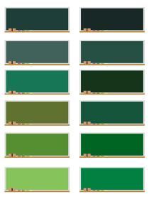 イラスト素材 黒板 色違い カラー 板 パターン ベクター