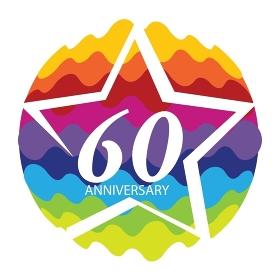 Template Logo 60 Anniversary Vector Illustration EPS10. Template Logo 60 Anniversary Vector Illustration