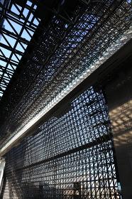 京都駅ビルの内部風景