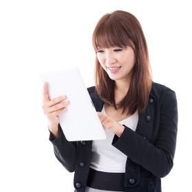 Using digital computer tablet.