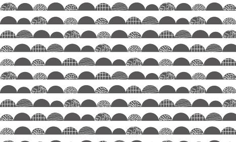 北欧パターン「モノトーンの波柄」
