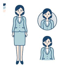 calm type suit business woman_Smile