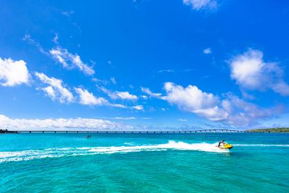沖縄県宮古島、前浜の風景