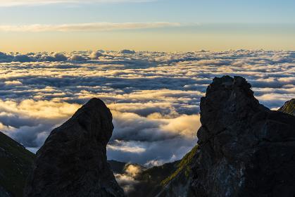 杓子岳からの雲海