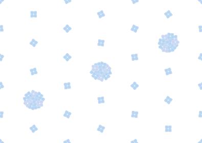 アジサイのシームレスなドット背景のイラスト 1