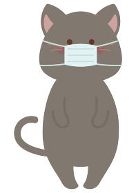 マスクをつけたネコ