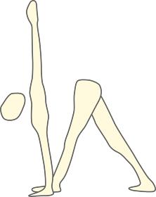 伸ばす三角のポーズの素材