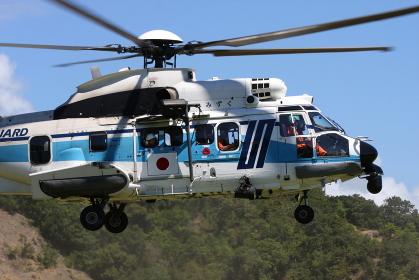 海上保安庁のEC225ヘリコプター(2010年徳島県総合防災訓練)