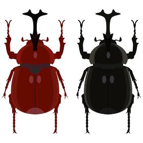 イラスト素材 カブトムシ 昆虫 夏休み 夏 自由研究 ベクター