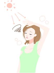 熱中症 日射病 女性