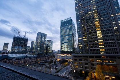【東京都】東京駅新丸ビルより【2020冬】
