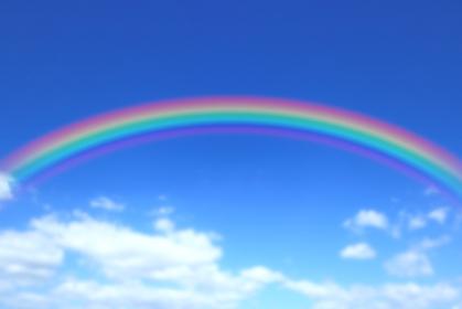 青空にかかる虹 1