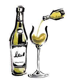 ワイン 白ワイン グラスに注ぐ