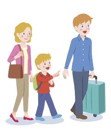 外国人の家族旅行